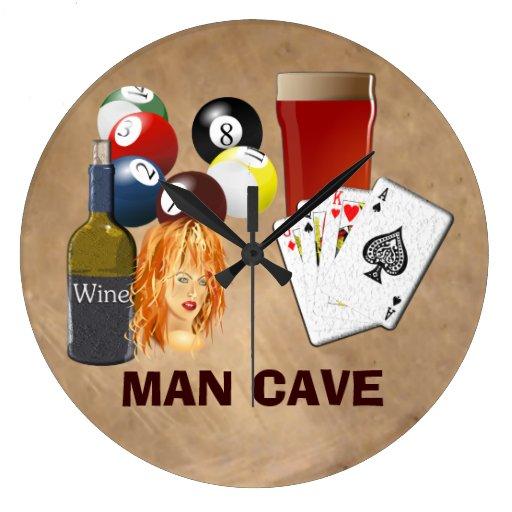 Man Cave Clock : Man cave clock large zazzle