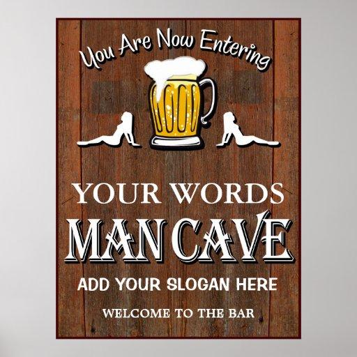 Man Cave Poster Ideas : Man cave custom bar sign poster zazzle