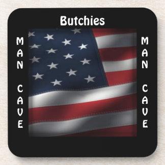 Man Cave CUSTOMIZE  American Flag Coaster