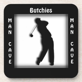 Man Cave CUSTOMIZE Golf Coaster