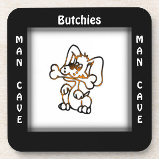 Man Cave CUSTOMIZE Name Puppy Coasters