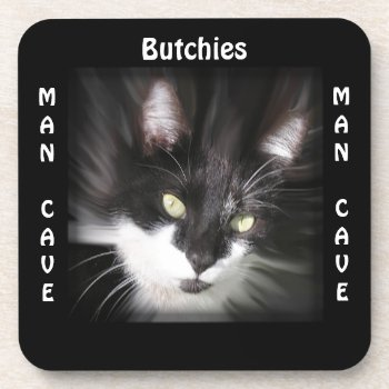 Man Cave CUSTOMIZE Tuxedo Cat Coaster