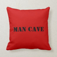 MAN CAVE design Pillow