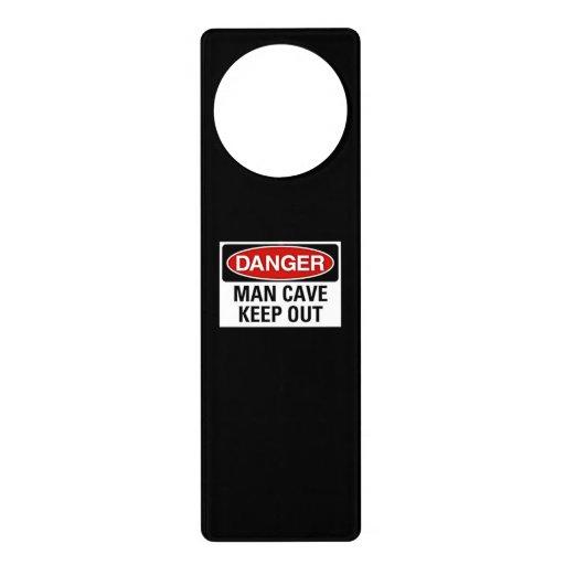 Man Cave Door Signs : Man cave door knob sign hanger zazzle