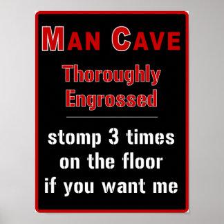 Man Cave: Engrossed - Print