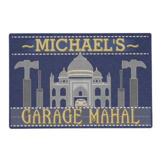 Man Cave Funny Garage Mahal Tools | Custom Name Placemat