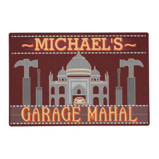 Man Cave Funny Garage Mahal Tools | Custom Name V2 Placemat