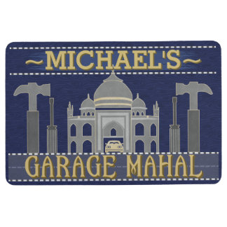 Man Cave Funny Garage Mahal Tools | Name Template Floor Mat