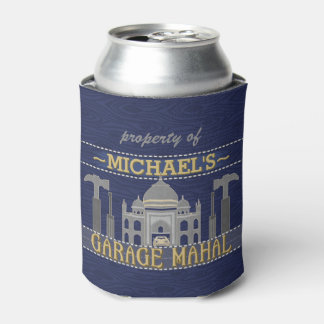 Man Cave Garage Mahal Funny for Men | Personalized Can Cooler