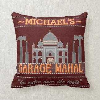 Man Cave Garage Mahal Funny Men Humor | Custom Throw Pillow
