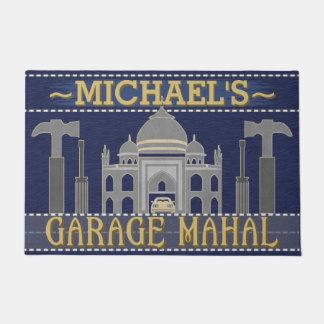Man Cave Garage Mahal Funny Tools | Custom Name Doormat