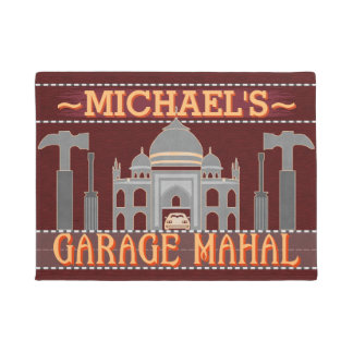 Man Cave Garage Mahal Funny Tools | Custom Name V2 Doormat