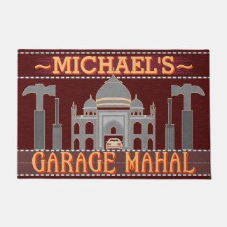 Man Cave Garage Mahal Funny Tools | Custom Name V2 Doormat