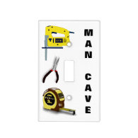 Man Cave Garage Tools Pliers Saw Measuring Tape Switch Plate Cover