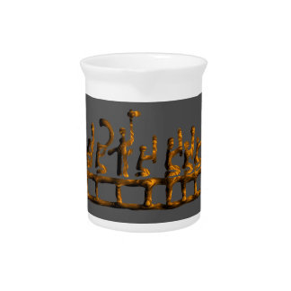 Man Cave Ideas Dragon Ship with Warriors Beverage Pitcher