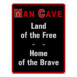 Man Cave: Land of the Free - Posters