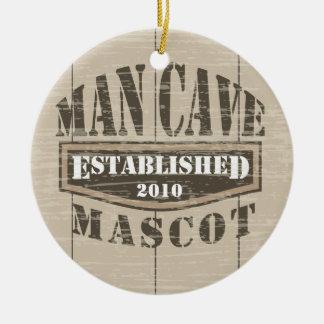Man Cave Mascot - Established (add year) Ceramic Ornament