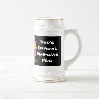 Man Cave Mug with Blond Haired Caveman