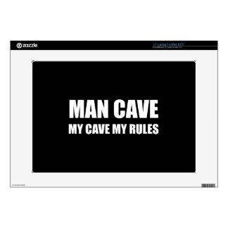 Man Cave My Rules Laptop Skins
