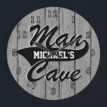 """Man Cave Personalize Large Clock<br><div class=""""desc"""">Man Cave Personalize Type in the name Click the Customize It button to select a background color you like.</div>"""