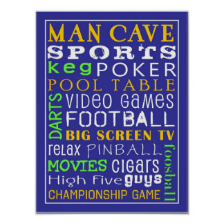 Man Cave Poster