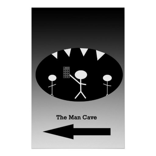 Kohl S Man Cave Gifts : Man cave poster zazzle