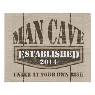 Man Cave Poster - Add Established Date