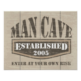 Man Cave Poster - Established 2005