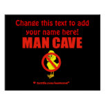 Man Cave Poster Template