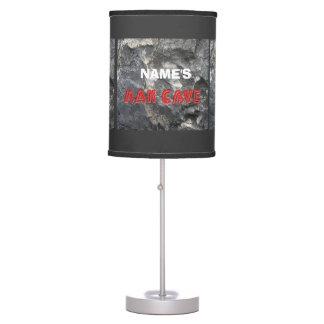 Man Cave Rock Formation Personalize Desk Lamps