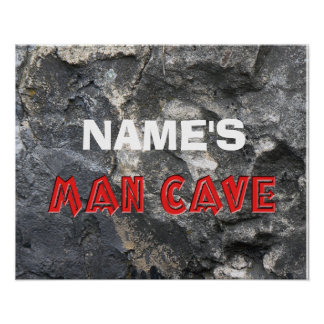 Man Cave Rock Formation Personalize Print