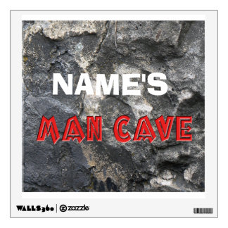 Man Cave Rock Formation Personalize Wall Decor