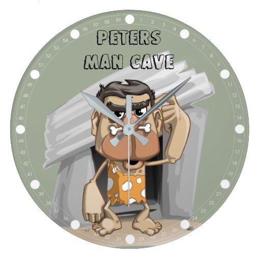 Man Cave Clock : Man cave round large wall clock zazzle