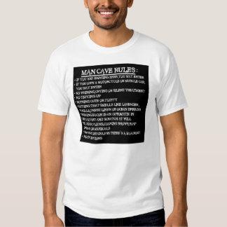 man cave rules t-shirt
