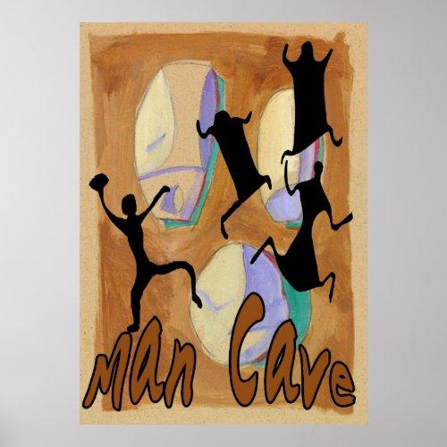 Man Cave Sign 2 print