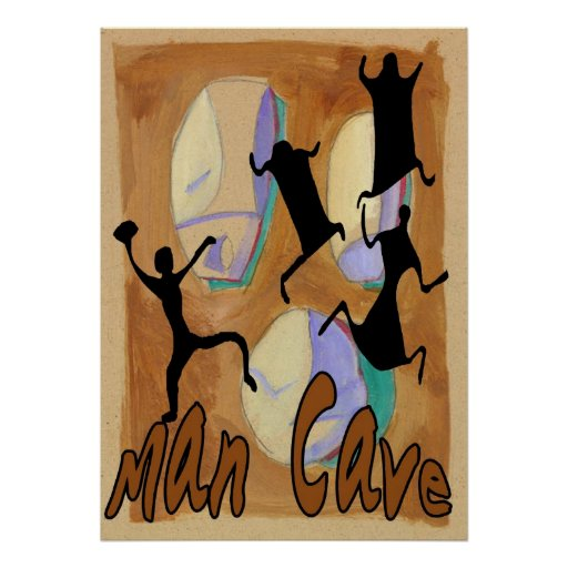 Man Cave Poster Ideas : Man cave sign poster zazzle