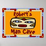 Man Cave Sign (edit name) Poster
