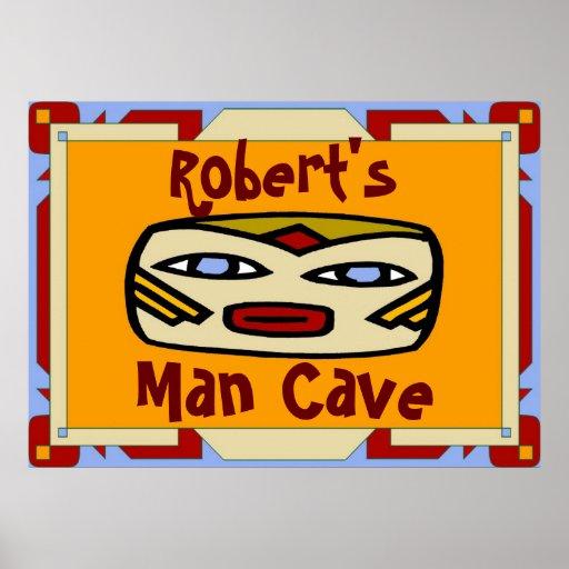 Man Cave Sign Edit Name Print Zazzle