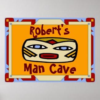 Man Cave Sign print