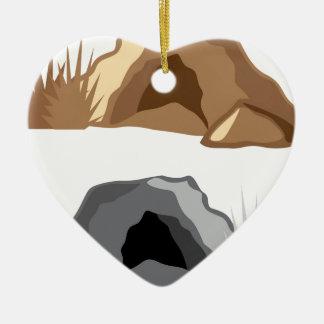 Man Cave vector Ceramic Ornament