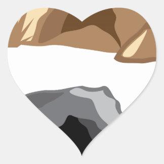 Man Cave vector Heart Sticker