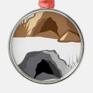 Man Cave vector Metal Ornament
