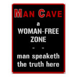 Man Cave: Woman-Free Zone - Poster