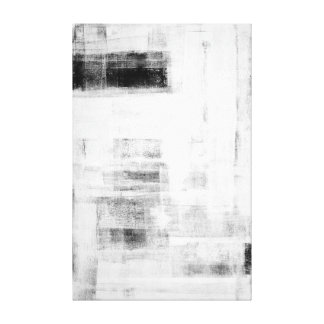 'Man Cave Worthy' Black and White Abstract Art Canvas Print