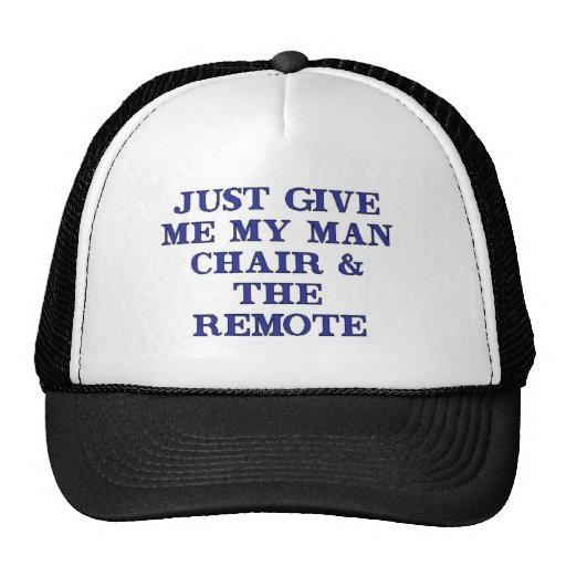 Man Chair & Remote Hats