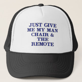 Man Chair & Remote Trucker Hat