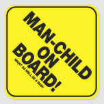 Man-Child On Board! Vehicle Warning Sticker