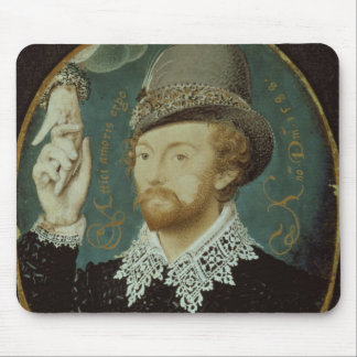 Man clasping hand from a cloud mouse pad