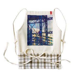 Man climbing a steel ladder zazzle HEART apron