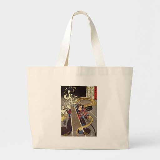 Man Confronting Fox Goddess Apparition Jumbo Tote Bag
